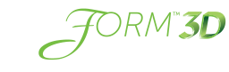 GalaFORM Surgical Scaffold 3D logo - white