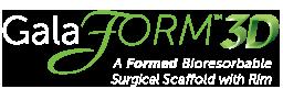 GalaFORM Surgical Scaffold 3D logo - white